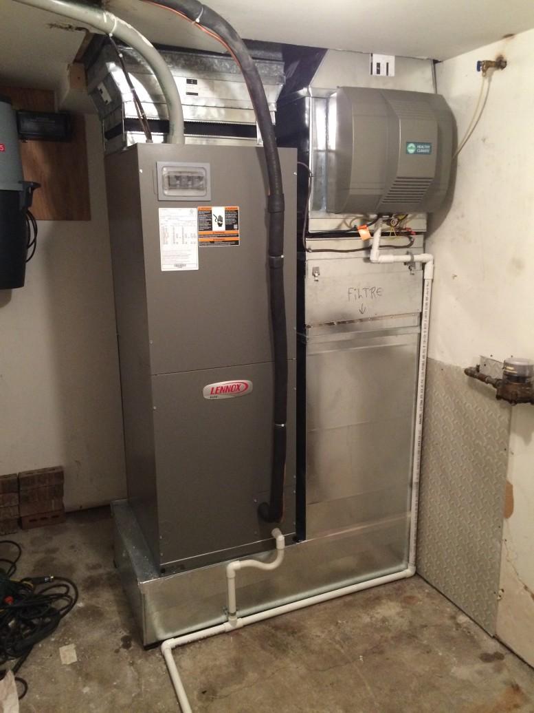 Installation de système central de climatisation et chauffage